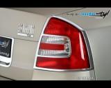 Škoda Octavia II - Rámeček zadních světel - chrom (Autostyl Janko)