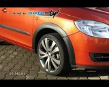 Škoda Fabia II- Lemy blatníků - černý desén (Autostyl Janko)