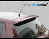 Škoda Fabia II - Spoiler 5. dveří - hladký pro lak (Autostyl Janko)