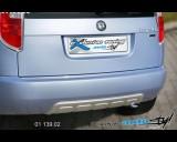 Škoda Roomster - Zadní difusor lyžina - stříbrná lyžina (Autostyl Janko)