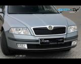 Škoda Octavia II - Lišta masky - černý desén (Autostyl Janko)
