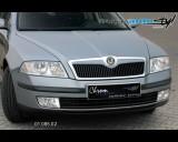 Škoda Octavia II - Lišta masky - pro lak (Autostyl Janko)