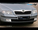 Škoda Octavia II - Lišta masky - chrom (Autostyl Janko)