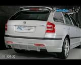 Škoda Octavia II - Difuzor zadního nárazníku s bočními spoilery pro lak - combi (Autostyl Janko)