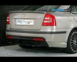 Škoda Octavia II - Difuzor zadního nárazníku černý desén s bočními spoilery pro lak (Autostyl Janko)