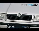 Škoda Octavia - Lišta masky - černý desén (Autostyl Janko)