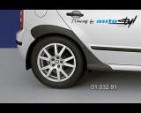 Škoda Fabia - Zadní díl k blatníkům (samostatný) - černý desén (Autostyl Janko)