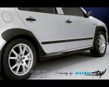 Škoda Fabia - Nástavky prahů - černý desén (Autostyl Janko)