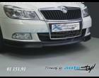Škoda Octavia II - Spoiler předního nárazníku - černý desén (Autostyl Janko)