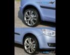 Škoda Fabia II- Lemy blatníků - hladký povrch pro lak (Autostyl Janko)