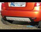 Škoda Fabia II - Zadní difusor lyžina All-road - černý desén+stříbrná lyžina(Autostyl Janko)