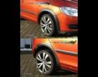 Škoda Fabia II- Lemy blatníků - černý desén - combi (Autostyl Janko)