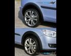 Škoda Roomster - Lemy blatníků - černý desén (Autostyl Janko)