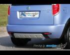 Škoda Roomster - Zadní difusor lyžina All-road - černý desén+stříbrná lyžina(Autostyl Janko)