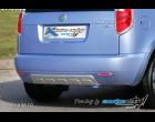 Škoda Roomster - Zadní difusor lyžina All-road - hladký pro lak+stříbrná lyžina(Autostyl Janko)