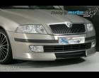 Škoda Octavia II - Přední spoiler - pro lak, střední díl černý desén (Autostyl Janko)