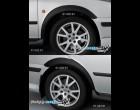 Škoda Octavia - Nástavky blatníků široké - černý desén (Autostyl Janko)