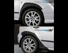 Škoda Fabia - Nástavky blatníků, 6 dílů - černý desén (Autostyl Janko)